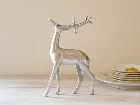 Vintage Pewter Deer
