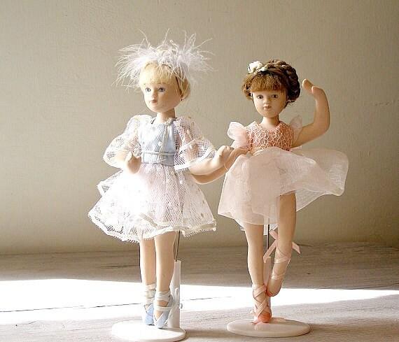 Porcelain Ballerina Dolls, Vintage dancers dolls