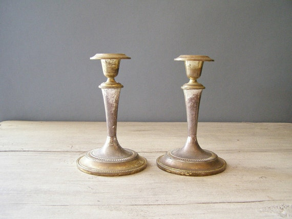 Vintage Candle Sticks, classic candle sticks, Victorian style decor, mid century home decor