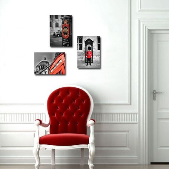 London photograph wall art Photography Red by LondonDream on Etsy