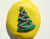 Decorated Christmas tree mold  -  flexible silicone mold for jewelry making, kawaii, resin, scrapbooking, wax, soap making