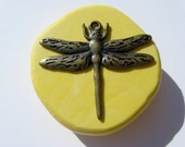 Dragonfly mold with bail hole - flexible silicone push mold that is food grade quality for fondants, chocolate, ice etc