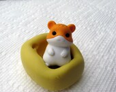Kawaii CHIPMUNK Silicone Push mold  Food Quality non-toxic flexible silicone mold mould for resin, scrapbooking, wax, soap making