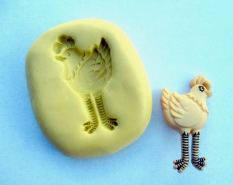 Chicken -  non-toxic flexible silicone mold/  mould, great for FIMO, clay, resin, soap etc