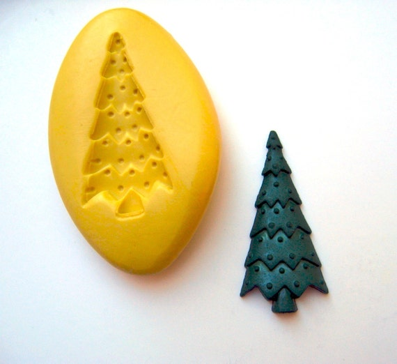 Christmas tree mold  - Quality non-toxic flexible silicone mold for jewelry making, kawaii, resin, scrapbooking, wax, soap making