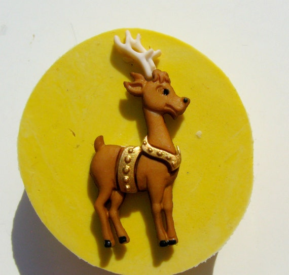 Rudolph the Reindeer Flexible Silicone Push Mold Food quality Christmas mold of deer raindeer