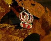 Upcycled 'Bava' Hoop Earrings (made from bottle tops)