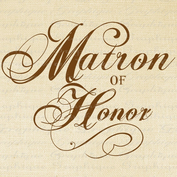 Items Similar To Matron Of Honor Words Wedding Text Script
