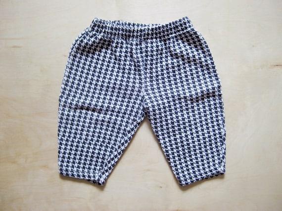 vintage kids HOUNDSTOOTH  PRINT PANTS Hipster 18 Months