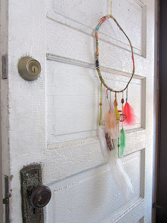 Large Fabric-Wrapped Dreamcatcher