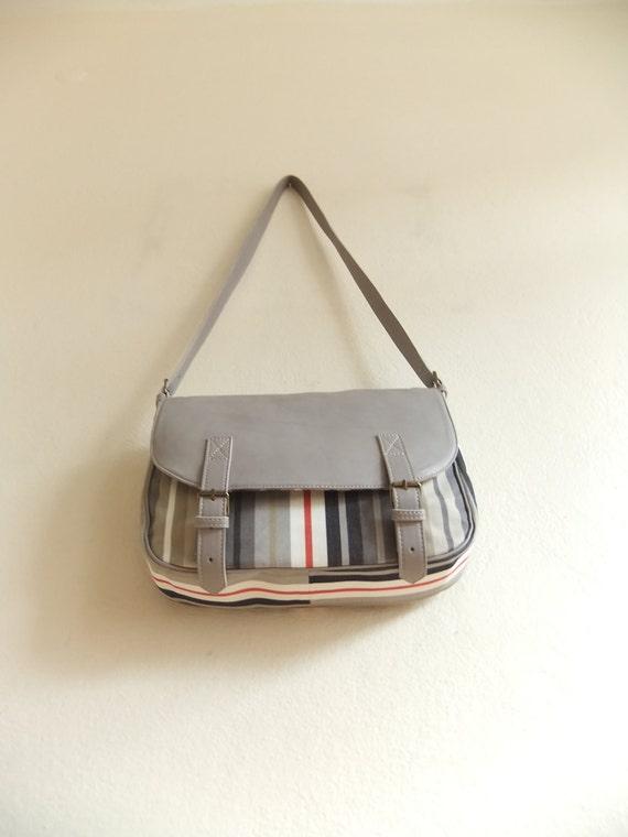 Leather & Canvas Messenger Bag