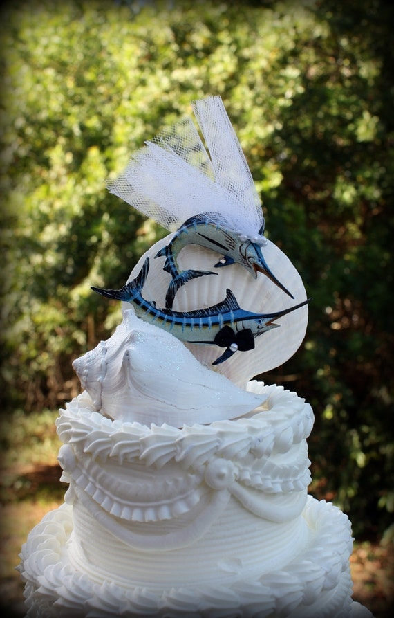 Marlin Fish Wedding Cake Topper