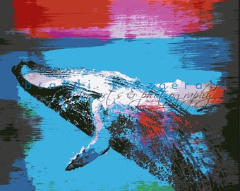Humpback Whale Marine Life Sea Inspired Wall Decor Product Options and Pricing via Dropdown Menu