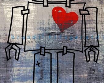 The Robot Love Machine V. 1.  Robot Love Fun  Art