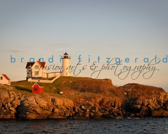 Nubble Light Fine Art Photograph Lighthouse Maine Wall Art At Checkout, Choose Lustre Print or Gallery Wrapped Canvas