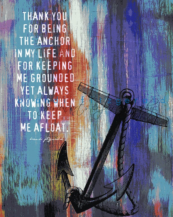 Anchor Afloat Nautical Decor Love Marriage Inspiration Quote At Checkout, Choose Lustre Print or Gallery Wrapped Canvas