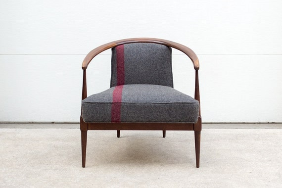 Art Deco Meets Mid Century Blanket Chair
