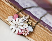Custom order for Kotiata Vintage Collection  - Pink and White Blossoms