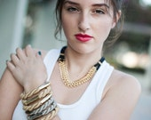 NEW Collection -  ONE Nautical twisted rope Taupe Bangle Bracelet by pardes israel
