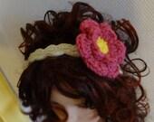 Crochet headband Flower crochet headband with flower Hair Accessories girls and women