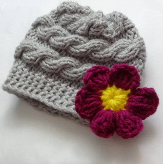 Girl Hats, Photo Prop Hat, Newborn Girl Hat, Knit Newborn Hat, Newborn Knit Hats, Knit Infant Hat, Baby Hats, Photo Prop hat, Daisy Flower