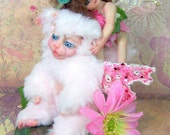 OOAK  art doll fantasy fairy creature animal polymer clay sculpture free shipping
