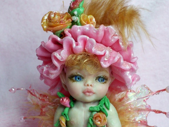 OOAK  Fairy baby doll polymer clay sculpture    IADR       free shipping