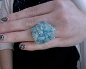 SALE Aquamarine Gems Adjustable Ring