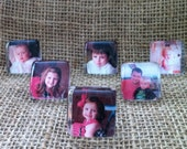 """Personalized 1"""" Photo Magnets - set of 6 - You send pics"""