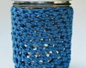 Blue Mason Jar Cozy