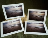 Sunset on Beach photography greeting cards, four pack, matching envelopes StrongylosPhoto greeting card