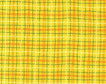 Fat Quarter ONLY - Yellow Plaid From Michael Miller