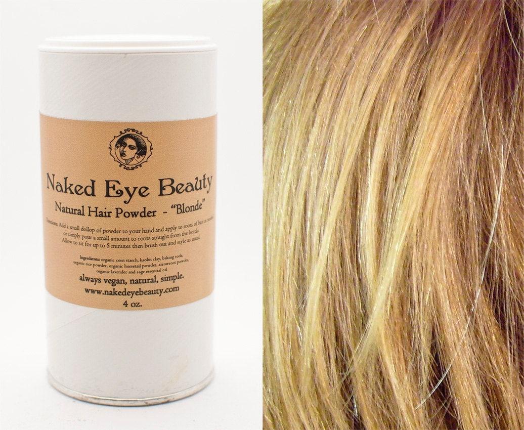 Organic Blonde Dry Shampoo Hair Powder Natural by