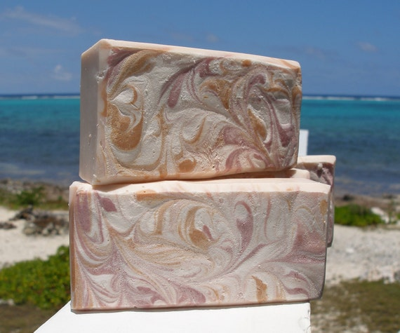 COUNTRY GARDEN SWIRL -  handmade soap, natural ingredients, cold processed soap