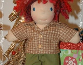 Pants and shirt made for an 7-8 inch Waldorf style doll