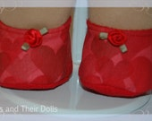 """Fabric shoes for larger Waldorf dolls 12"""" to 15"""""""