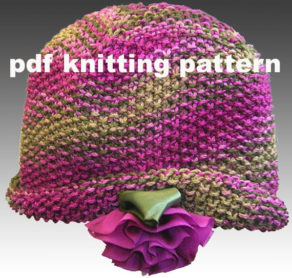 Knit Stitch Patterns For Hats : Seed Stitch Hat..PDF Knitting Pattern