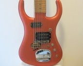 Electric 8-String Guitar and Bass in Copper Color - 5 guitar strings, 3 bass strings