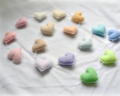 Pastel felt hearts banner/ garland/ bunting - nursery decor - MADE TO ORDER