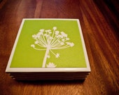 Spring Has Sprung Coasters, Set of Four  -- -MAY SALE- --