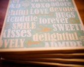 Hugs Kisses Forever Coasters, Set of Four, New Design