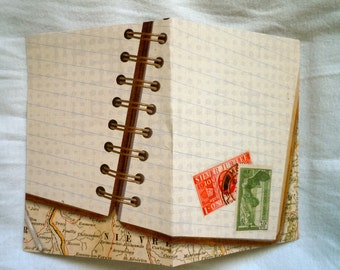 Passport Cover Travel Log Stamps