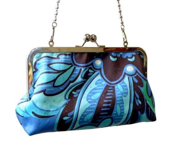 Custom Listing for DanasDarlingDesigns - Clutch Purse Bag Amy Butler Orchid Blue - Ready to Ship
