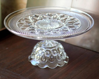 "16"" Wedding Cake Stand / Glass Pedestal / Custom Cake Stands for Custom Wedding Cakes & Cupcakes /  Vintage Cake Stands for Vintage Weddings"