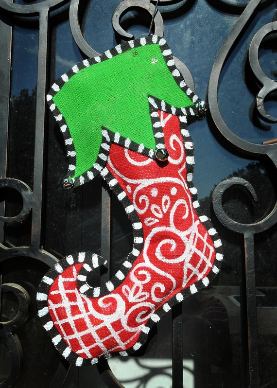 Christmas Stocking Door Decoration - Free Personalization