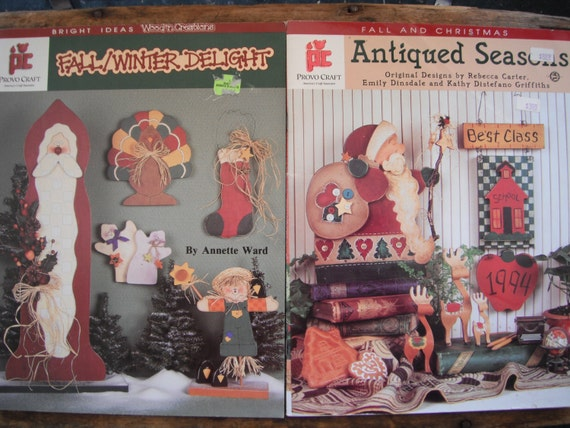 2 Provo Craft Fall and Christmas Decorative Painting Books with Patterns included