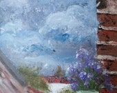 """Original Oil Painting on Canvas Panel - """"Stormy Outlook"""""""