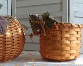 Handwoven, Hand-Dyed Reed Basket