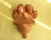 Italian Cherubs - Terra Cotta Holy Water Font