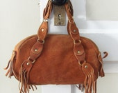 70's Suede Purse With Fringe